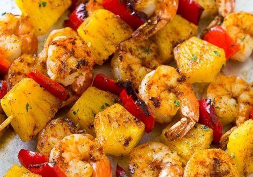 Jerk Shrimps Kebab